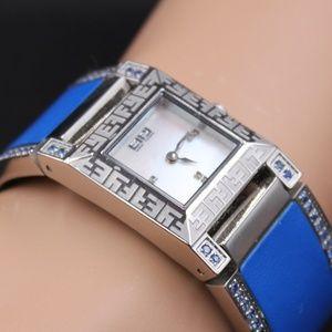 Diamond Blue Sapphire 2.76 tcw Watch